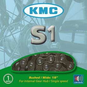 KMC S1 Kette für Nabenschaltung grey